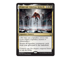 Primevals' Glorious Rebirth - Dominaria - NUEVO/MINT - MTG  - 201