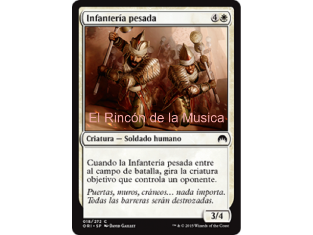 Infantería pesada - Magic Origins - NUEVO/MINT - MTG - 018