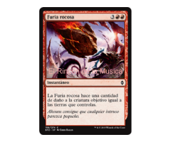 Furia rocosa - Battle for Zendikar - NUEVO/MINT- MTG - 156